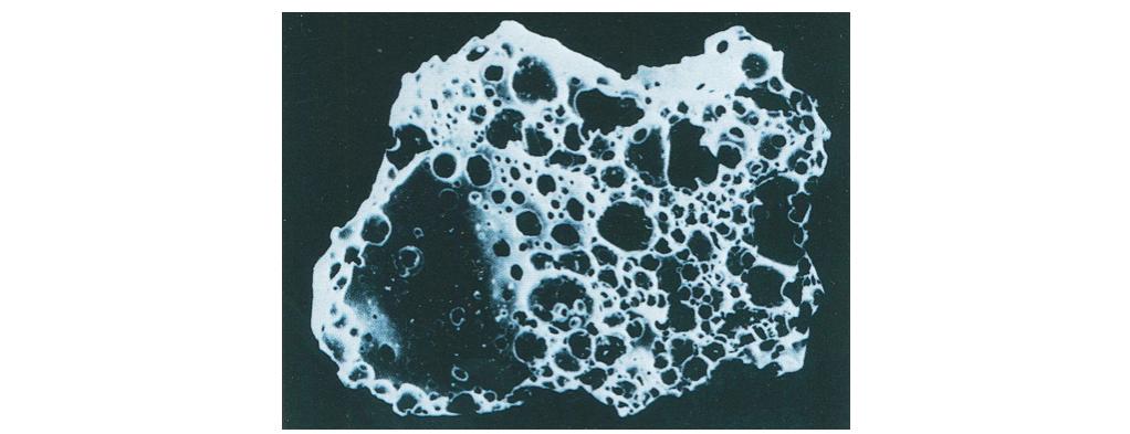 高炉水砕スラグの拡大図